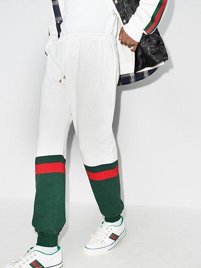 colour block cotton track pants