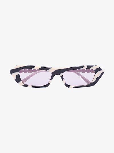 black and white zebra striped sunglasses