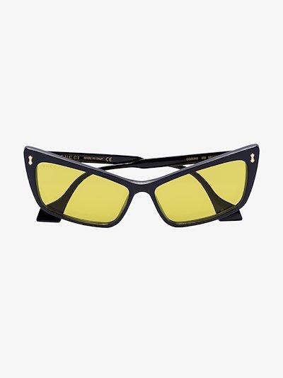 Black and Yellow Cat Eye Sunglasses