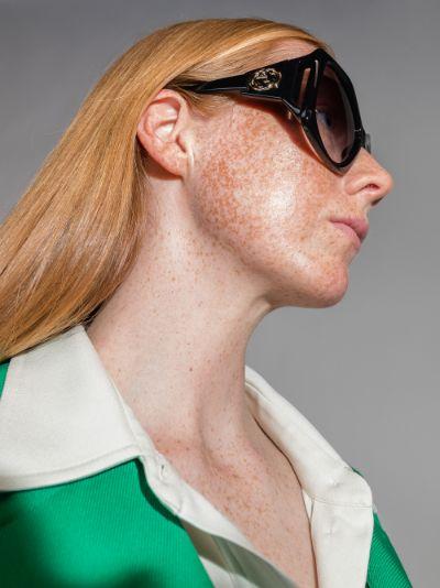 Black Fork Square Sunglasses