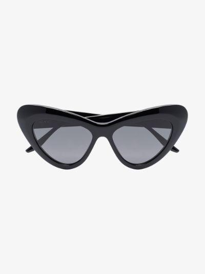 Black GG cat eye sunglasses