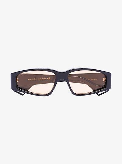 black rectangle sunglasses