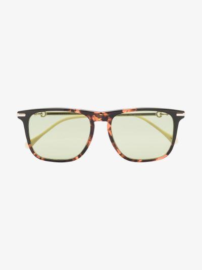brown Horsebit square sunglasses
