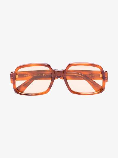 brown square tortoiseshell sunglasses