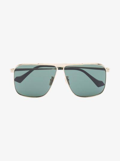 gold tone aviator sunglasses