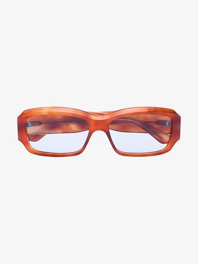 havana brown rectangular sunglasses