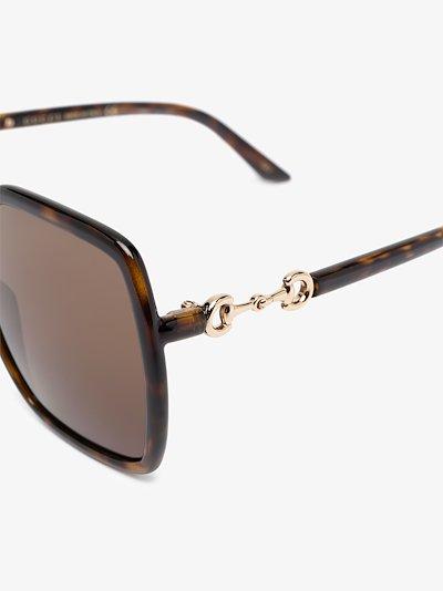 oversize-frame horsebit-detail sunglasses