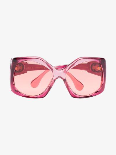 pink oversized round sunglasses