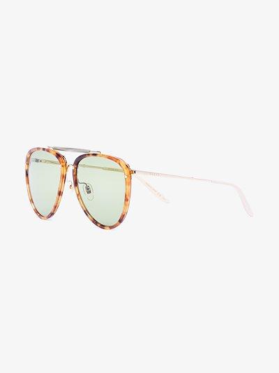 tortoiseshell-effect aviator sunglasses