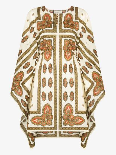 floral cotton kaftan dress