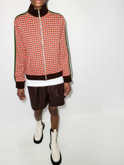 geometric jacquard jacket
