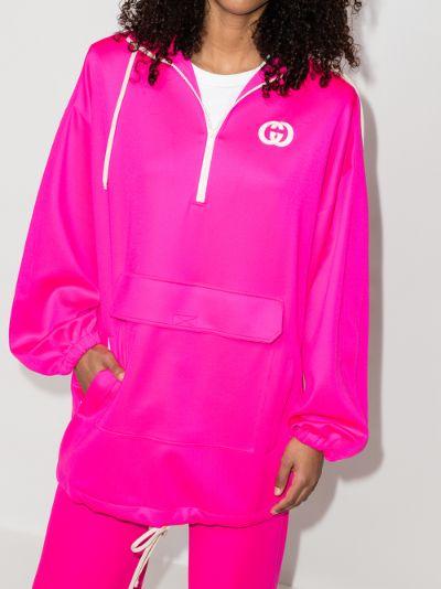 GG Hooded windbreaker jacket