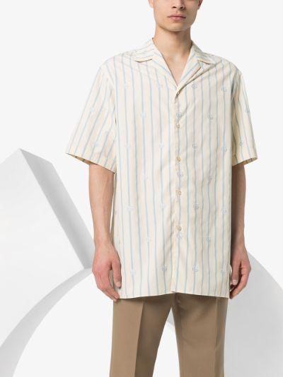 GG Iconic print cotton bowling shirt