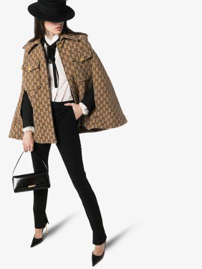 GG motif wool cape