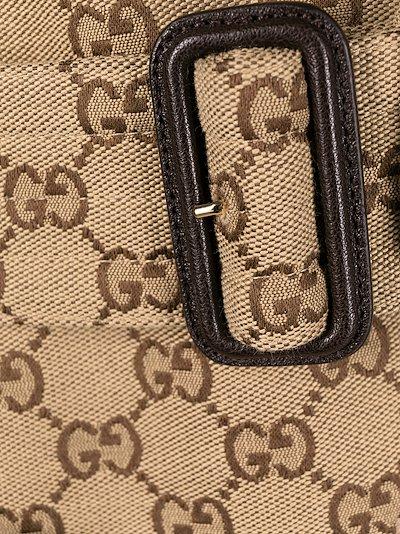 GG pattern trench coat