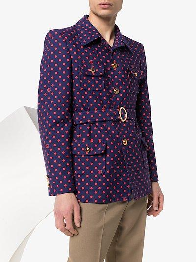 GG polka dot belted jacket