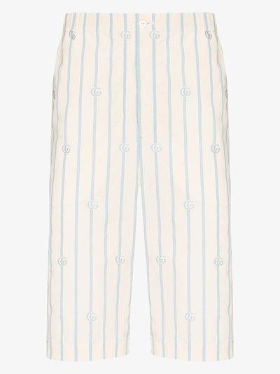 GG Striped Cotton Shorts