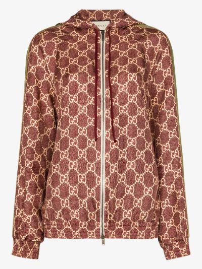 GG Supreme hooded silk jacket