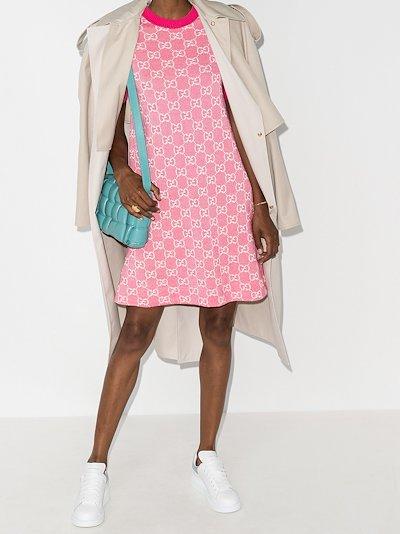 GG Supreme jacquard knitted dress