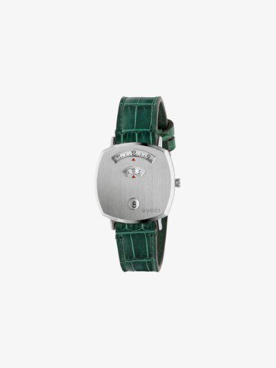green Grip stainless steel watch