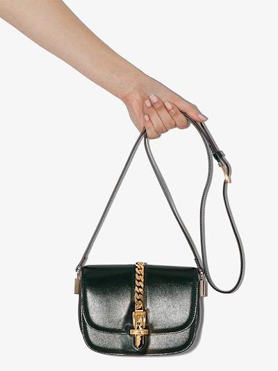green Sylvie 1969 leather saddle bag