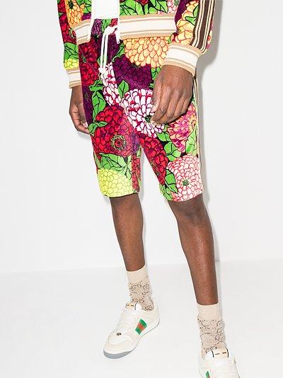 Ken Scott print track shorts