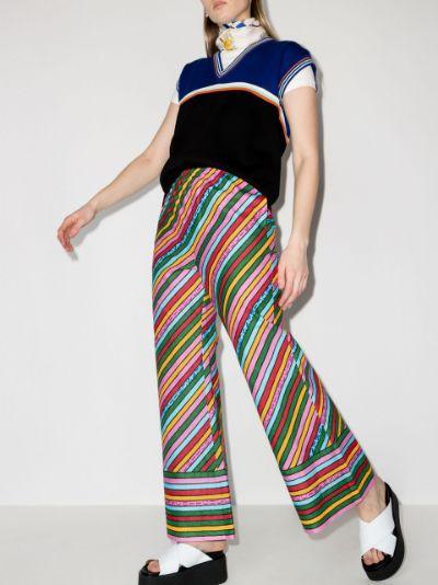 Ken Scott striped trousers
