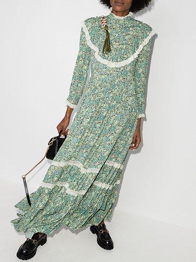 Liberty floral print ruffle maxi dres
