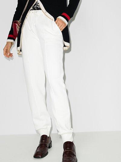 logo cotton track pants