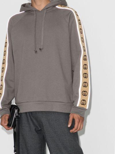 logo-tape hoodie