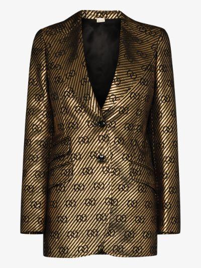 metallic single-breasted blazer