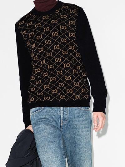 Monogram wool sweater