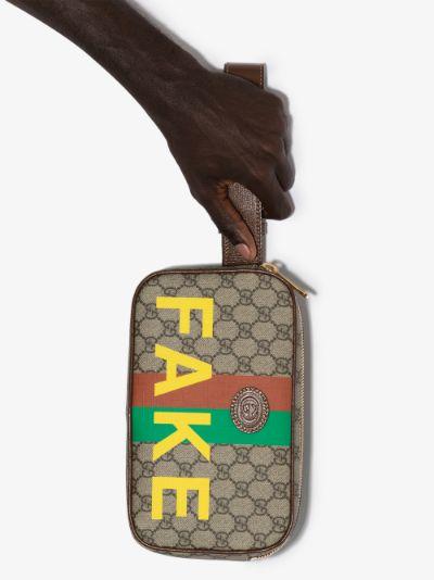 multicoloured Fake/Not GG Supreme cross body bag