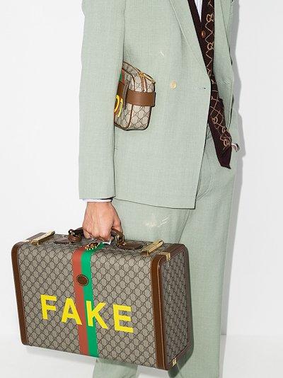 multicoloured Fake/Not GG Supreme suitcase