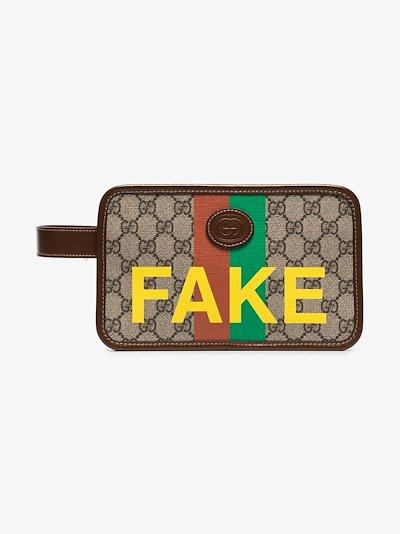 multicoloured Fake/Not GG Supreme wash bag