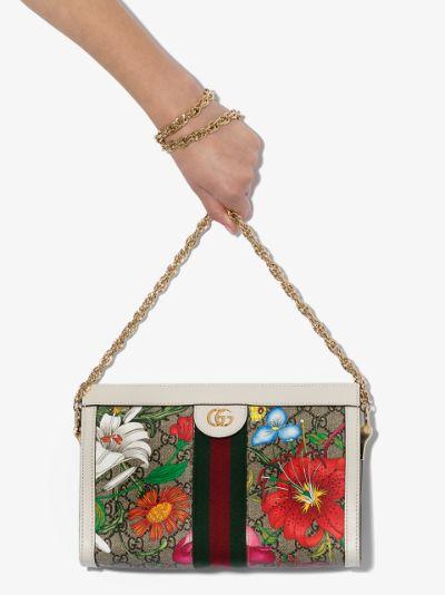 multicoloured Ophidia GG Supreme small shoulder bag