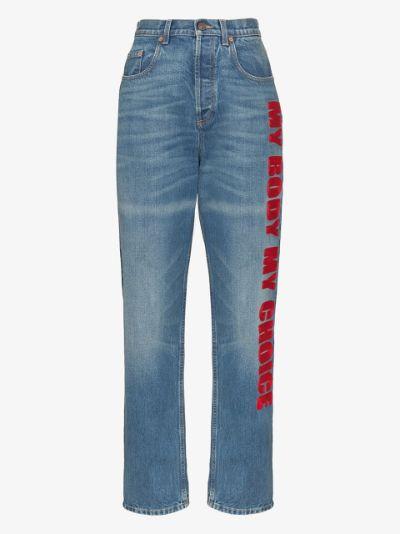 My Body My Choice straight leg jeans