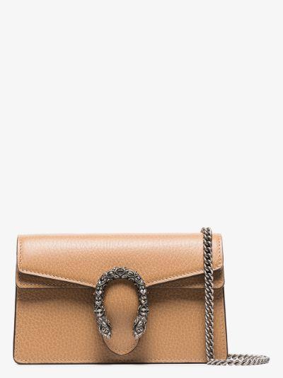 neutral Dionysus mini leather shoulder bag