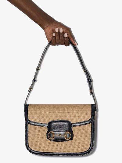 neutral Horsebit 1955 shoulder bag