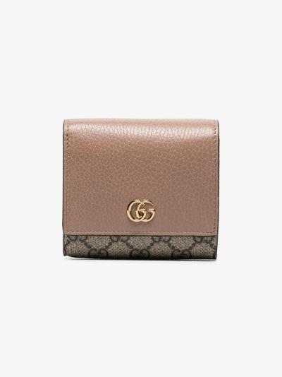neutral Marmont GG Supreme Wallet