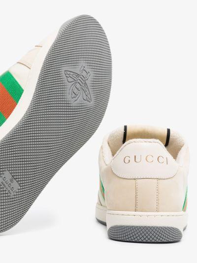 neutral Screener leather sneakers