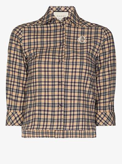 Petit check monogram shirt