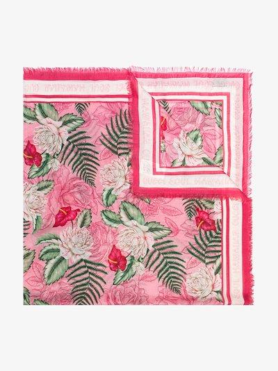 pink Hawaiian print scarf