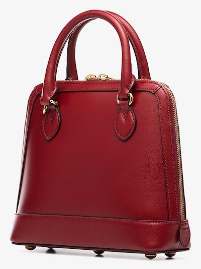 red Horsebit 1955 leather top handle bag