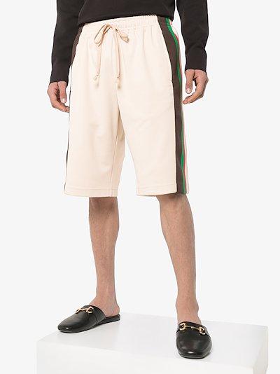 side stripe track shorts