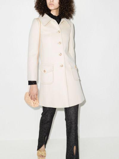 single-breasted midi coat