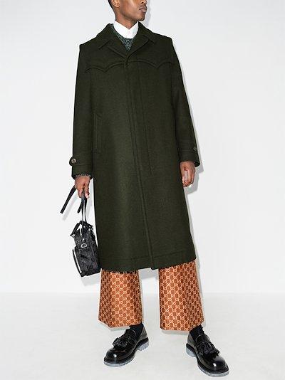 single-breasted wool overcoat