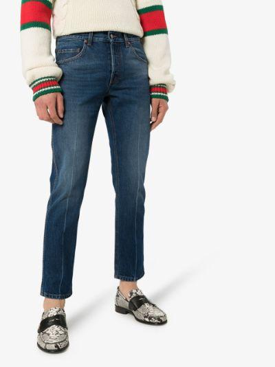 slim leg cropped jeans