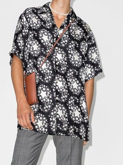 Stars print silk shirt