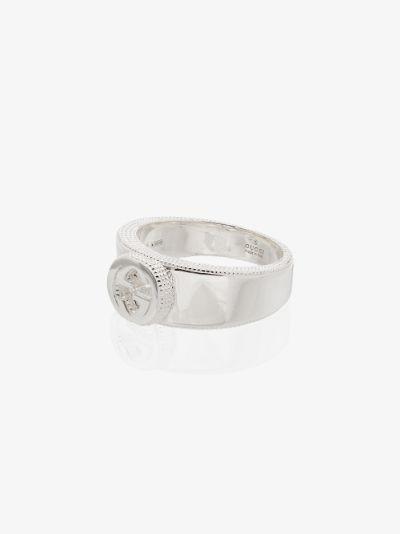 sterling silver GG logo ring
